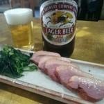 46810717 - 合鴨スモークとビール
