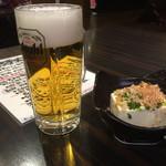 さんまちゃん - 生ビール550円と冷奴200円