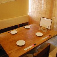 四季菜・炭火Dining 樂 - ★すだれで仕切る半個室の席