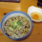長命うどん - 味噌きしめん(温withさくら卵