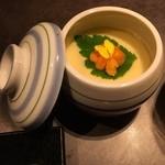 46816955 - 新鮮雲丹のなめらか茶碗蒸し~彩り豊かな一品でおもてなし~                                              結構量もありなめらかでさっぱりといただけました。