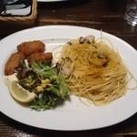 森乃館 - 牡蠣とカラスミの焦がしバターソース~カキフライ添え~