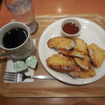 ベックスコーヒーショップ - メイプルフレンチトーストセット ¥390-