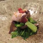 46824686 - 豊能町で採れた油菜、原木椎茸などを使った料理