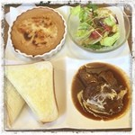 キッチン芥子屋 - 常陸牛ビーフシチューとドリアがセットになったランチプレート♪ ビーフシチューが絶品でした。