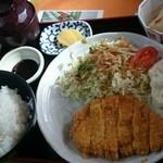 一心亭 - おぐ豚かつ定食¥1100