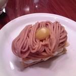 Euro Cafe - [料理] モンブランのミルフィーユ アップ♪w