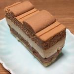 リンツ ショコラ カフェ - サンモリッツ(上からミルク、ホワイト、ダークチョコレートムース)756円