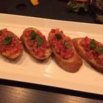 セタ オーガニックレストラン - フレッシュトマトいっぱいのブルスケッタ