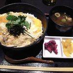 美食米門 - [料理] 親子丼 \900 セット全景♪w