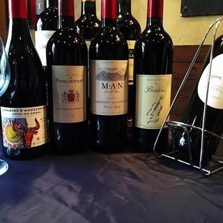 種類豊富なグラスワイン