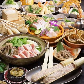 【忘年会・新年会に】日本酒飲放付★鶏つくね鍋コース