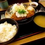 松乃家 - 新春湾コイン♪卸しロース定食(並)¥500円