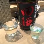 三代目 まる天 - 田酒 純米吟醸 辨慶