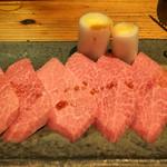 焼肉 とーがらし - 特上カルビ〔宮崎牛A5 三角バラ〕  2000円