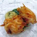 チオリ - 真ダコと桜海老のフリット 春菊のソース