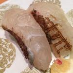京寿司 - 京寿司 門司店(福岡県北九州市門司区東新町)真鯛の皮目炙り120円