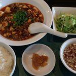 46843361 - 麻婆豆腐ランチ750円 辛さアップでお願いしました
