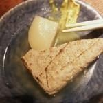 赤玉 本店 - 筍と焼き豆腐