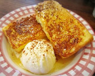 66 - フレンチトーストwithバニラアイス