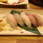 三喰撰酒 三重人 - 握り寿司5種5貫盛り