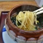梅公 - 壷ラーメン塩(細麺)