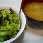 46848717 - サラダとみそ汁