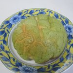 バンテルン - 抹茶メロンパン140円、SAの地元八女産の抹茶を使用した広川SA限定のパンサクサクふんわりで抹茶の香りがしますよ