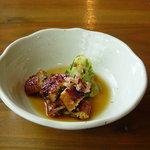 Sanshounoki - ★クーポンでいただいた一品★ポン酢味であっさりしたお味で美味しかったです