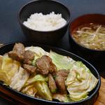 博多拉担麺まるたん - 鉄板焼き定食