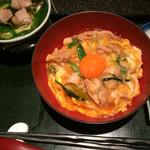 京都 八起庵 - 親子丼とミニ鴨なんばセット