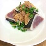 尚鮨 - メジマグロの塩たたき