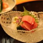 割烹味楽 - 料理写真:お造り1 本マグロt小柴のスミイカ