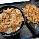 吉野家 - 牛カルビ丼並盛と牛皿並盛