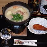 つたや - イノシシの酒粕鍋 600円