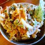 むぎ家 - 海鮮かきあげ丼(かきあげダブル!)