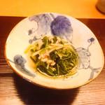 日本料理 銀座 大野 - 水菜とえのきの和え物