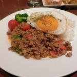 アジアの台所 tenten - ガッパオ(ひき肉とバジルの炒め物ライス・タイ風)