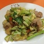 餃子会館ふく龍 - 肉野菜炒め 700円