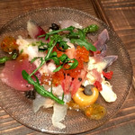 名駅 ダイニング SILVA - 鮮魚と貝のカルパッチョ盛り ハーフ