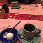 夢一喜 - 食後のアイスとコーヒーも美味しかった