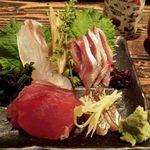魚屋さんじゅうまる - 刺身三種盛り
