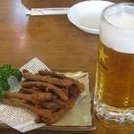 46884901 - 生ビール550円、ごぼうスティック450円