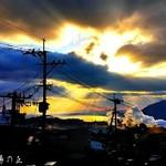別府鉄輪温泉 おやど湯の丘 - 客室から見えた夕日