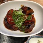 天神 わっぱ定食堂 - 茄子味噌炒め  こってり甘味噌はさすが九州という味
