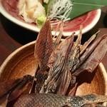 小樽食堂 - つぶ貝刺身とお通し