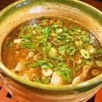 麺舎 ヒゲイヌ - 牛スジつけ麺(つけ汁)