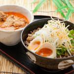 香味つけ蕎麦 七並 - よくばり坦々つけ蕎麦 1000円