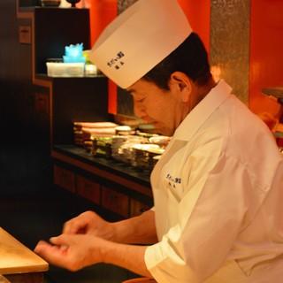 *寿司への変わらぬ愛情。ごゆっくりお食事をお楽しみください