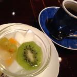 Suihou - ランチ の 杏仁豆腐・コーヒー